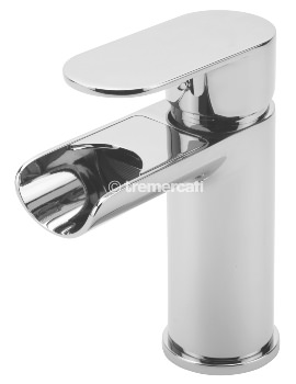 Tre Mercati Geco Open Spout Mono Basin Mixer Tap With Click Clack Waste