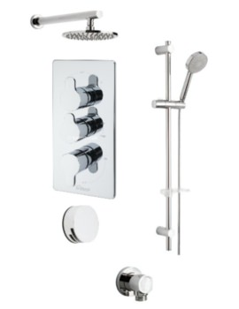 Lollipop Concealed Valve 3 Way Diverter And Shower Set
