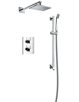 Str8 Concealed Thermostatic Valve With Slide Rail Kit And Overhead