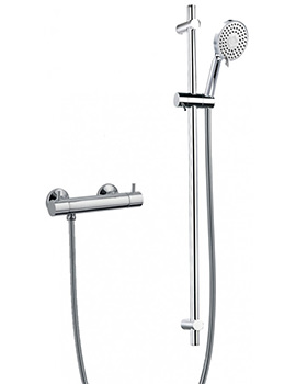 Levo Exposed Thermostatic Bar Valve With Slide Rail And Design Handset