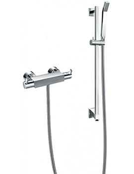 Str8 Exposed Thermostatic Bar Valve With Slide Rail Kit