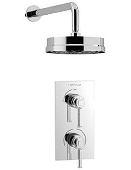 Somersby Recessed Thermostatic Valve With Wall Fixed Head Kit