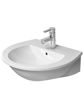 Darling New 550mm Wide 1 Taphole Washbasin With Overflow
