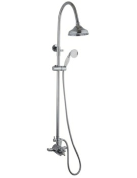 Oxford Exposed Thermostatic Shower Valve And Riser Kit