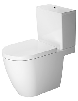 ME by Starck Open Back Close Coupled WC With Dual Flush Cistern