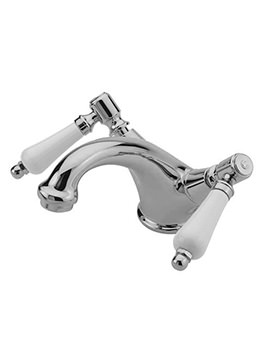 Tre Mercati Victoria Bianco Mono Basin Mixer Tap With Pop-Up Waste - 1506