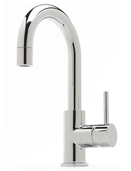 Milan Side Lever Mono Basin Mixer Tap With Click Clack Waste