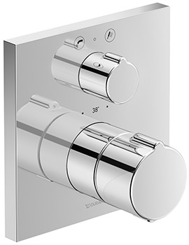 C.1 Square Concealed Thermostatic Bath Mixer Valve With Diverter