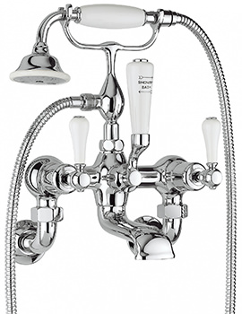 Belgravia Lever Chrome Bath Shower Mixer Tap With Kit And Unions