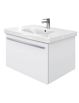 X-Large 800mm Vanity Unit With 850mm D-Code Washbasin