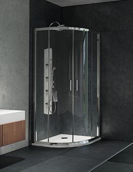 Lauren S6 900 x 900mm Double Door Quadrant Shower Enclosure