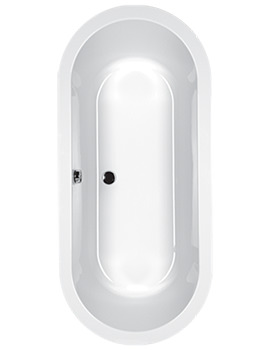 Halcyon Oval Freestanding Carronite Bath 1750 x 800mm White