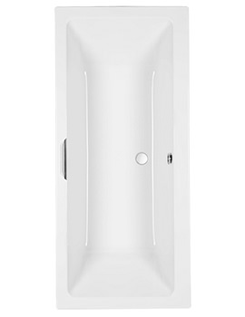 Quantum Integra 5mm Acrylic Double Ended Bath With Grip 1700 x 750mm