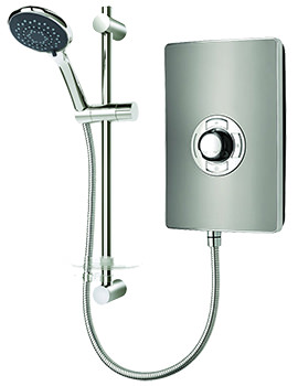 Triton Aspirante Gun Metal Electric Shower 9.5 Kw