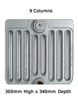 Firenze 9 Column Cast Iron Radiator 300mm High - 6 To 20 Sections