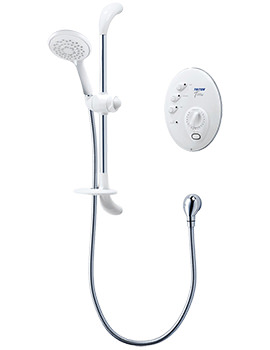 T300si Wired Electric Shower White And Chrome 9.5kw