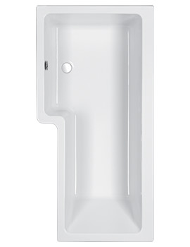 Quantum 5mm Acrylic Shower Bath 1500 x 700-850mm - Left Hand