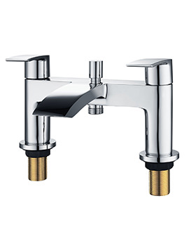 Mayfair Slide Deck Mounted Bath Shower Mixer Tap Chrome With Kit