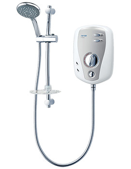 T100XR Electric Shower 10.5kw White And Chrome