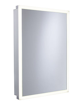 Extend 500mm Single Door Mirror Cabinet Aluminum