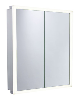 Extend 654 x 700mm Double Door Mirror Cabinet Aluminum