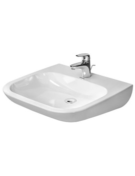 D-Code 600 x 555mm Washbasin Med Without Overflow