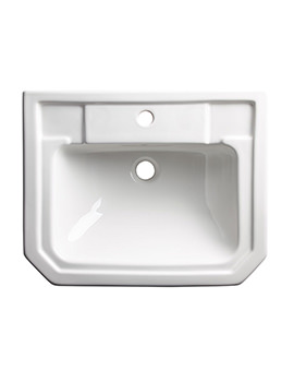 Harrow White Semi-Countertop Basin