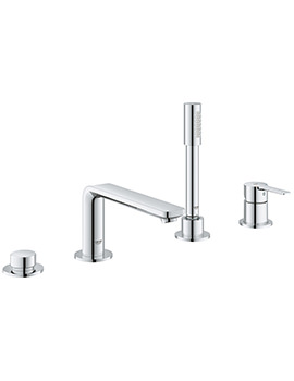 Lineare 4 Hole Single Lever Bath Combination