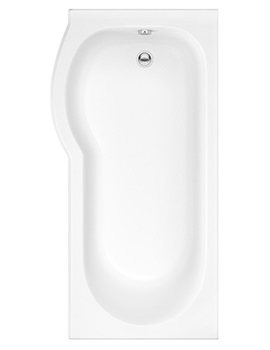 Trojan Concert 1675 x 850mm P Shaped Left Hand Shower Bath With Panel