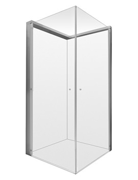 Duravit OpenSpace 985 x 885mm Rectangle Shower Screen For Tap On Left Side