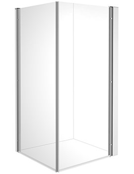 Duravit OpenSpace B 885 x 885mm Square Shower Screen For Tap On Left Side