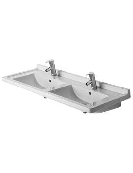 Starck 3 1300 x 490mm Double washbasin - EX DISPLAY