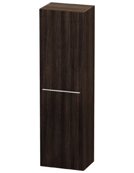 Duravit X-Large 500 x 1760mm 1 Door Tall Cabinet Chestnut Dark - EX DISPLAY