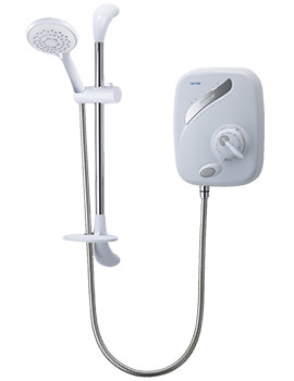 Triton AS2000X White and Chrome Manual Power Shower