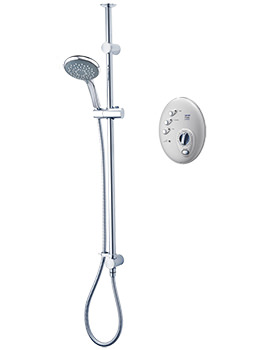 T300si Satin-Chrome Wireless Electric Shower 10.5kw