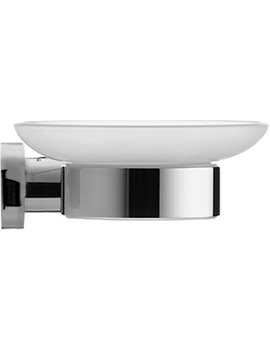 D-Code Soap Dish With Glass Shelf On Left Side