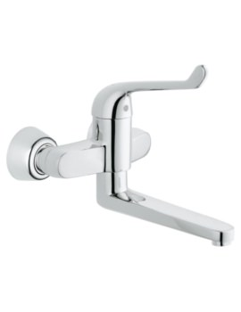Euroeco Single Sequential Single Lever Wall Mounted Basin Mixer Tap