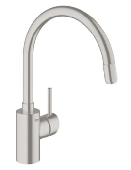 Concetto Single Lever Monobloc Sink Mixer Tap Supersteel