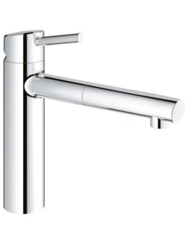 Concetto Deck Mounted Kitchen Sink Mixer Tap Chrome