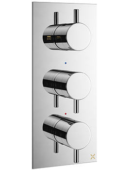 Mike Pro Chrome Portrait 3 Control Thermostatic Shower Valve