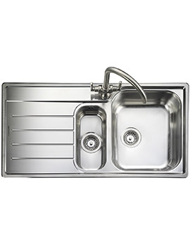 Oakland 1.5 Bowl Stainless Steel Kitchen Sink - LH Drainer