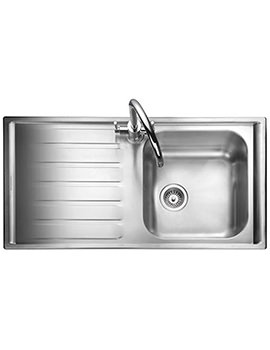 Manhattan 1.0 Bowl Stainless Steel Kitchen Sink - LH Drainer