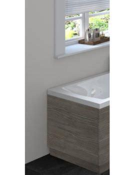 Hudson Reed 750mm Grey Avola Bath End Panel With Plinth