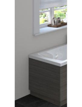 Hudson Reed 750mm Hacienda Black Bath End Panel With Plinth