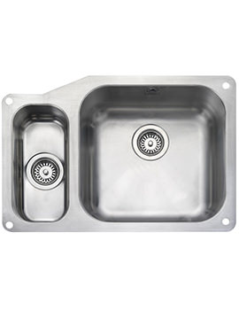 Atlantic Classic Undermount 1.5 Bowl Kitchen Sink 671mm LH
