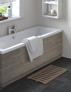Hudson Reed 1700mm Grey Avola Bath Front Panel With Plinth