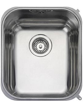 Atlantic Classic 1 Bowl Undermount Kitchen Sink 378 x 448mm
