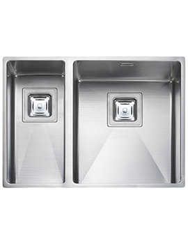 Atlantic Kube 1.5 Bowl Undermount Kitchen Sink - RH