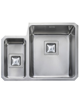 Atlantic Quad 1.5 Bowl Undermount Kitchen Sink Left Hand