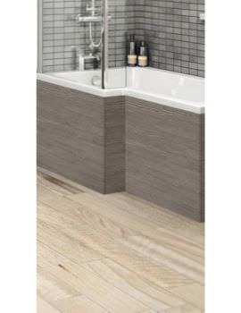 Hudson Reed 1700mm Grey Avola Shower Bath Front Panel